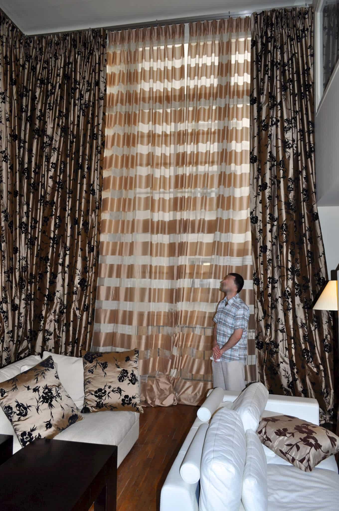 voilages et double rideaux dans un h tel particulier atelier secrea. Black Bedroom Furniture Sets. Home Design Ideas