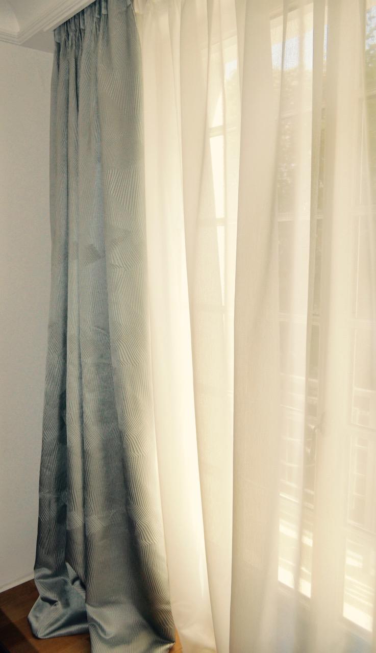 rideaux design sur mesure tissu nya nordiska atelier secrea. Black Bedroom Furniture Sets. Home Design Ideas