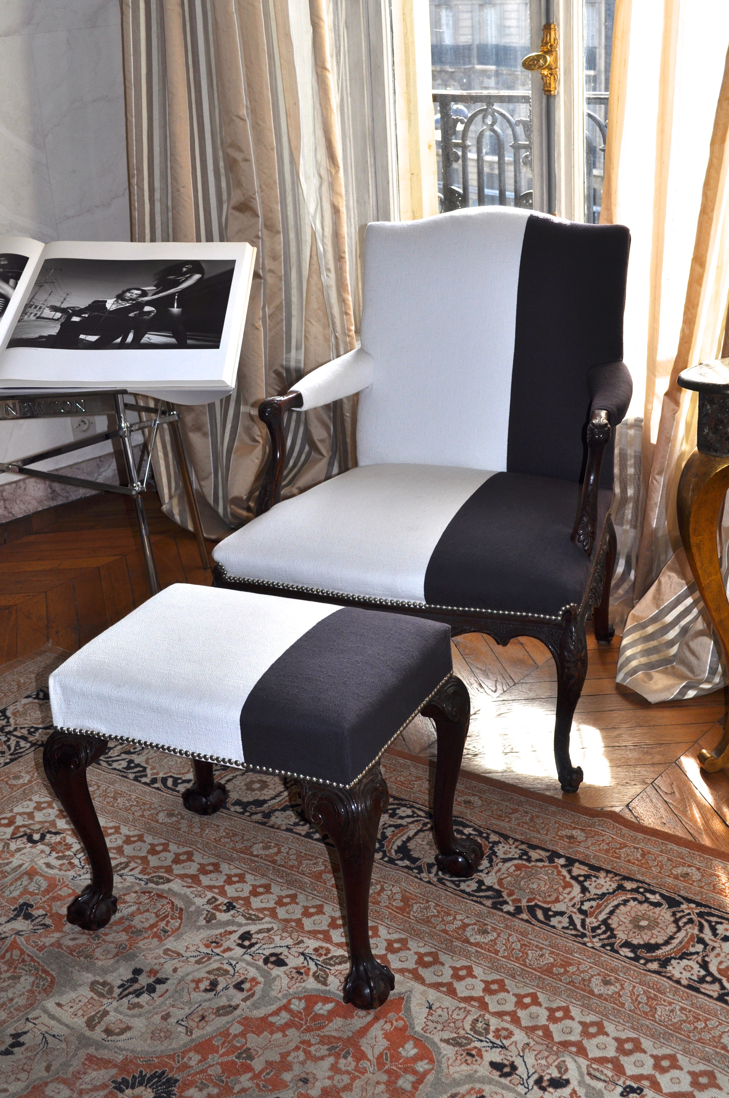 R fection d 39 un fauteuil george ii style atelier secrea - Cours de tapisserie d ameublement paris ...