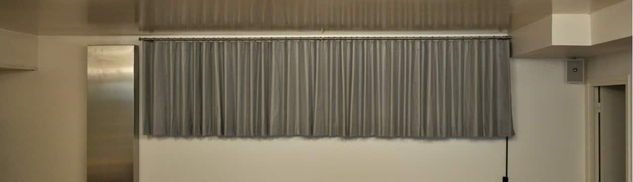 rideau sur mesure pour fen tre bandeau atelier secrea. Black Bedroom Furniture Sets. Home Design Ideas