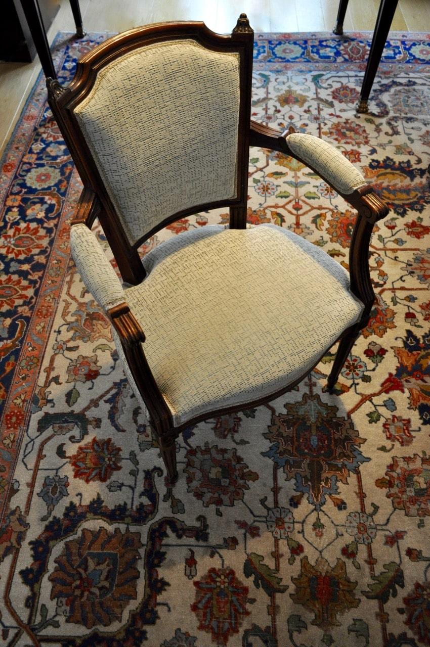 Refaire Un Fauteuil Louis Xvi retapisser un fauteuil cabriolet louis xvi - atelier secrea
