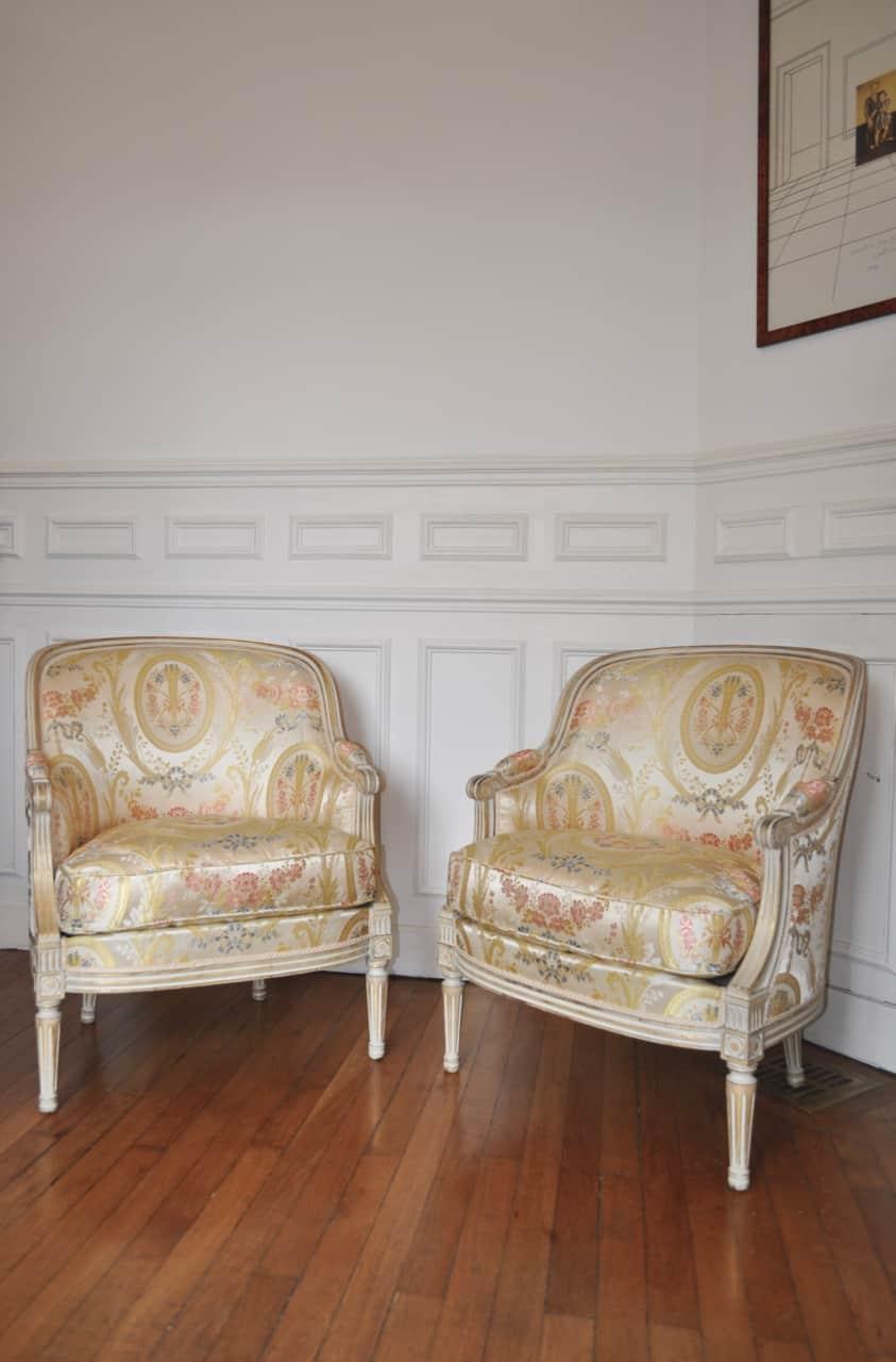 tissu marie antoinette tassinari chatel leli vre fauteuils. Black Bedroom Furniture Sets. Home Design Ideas